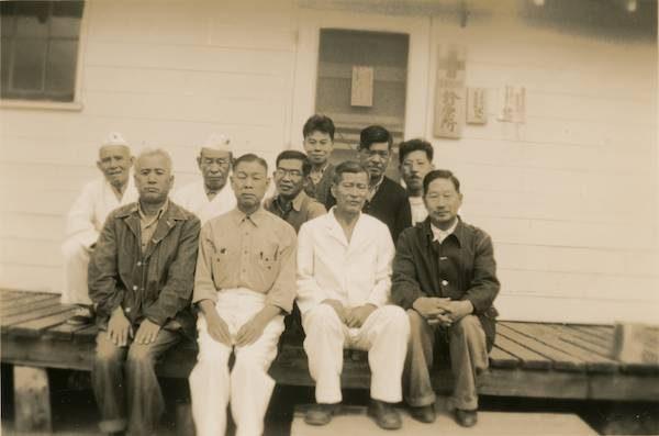 Men at Santa Fe, New Mexico Internment Camp. Courtesy of David Rogers/Densho Digital Repository.