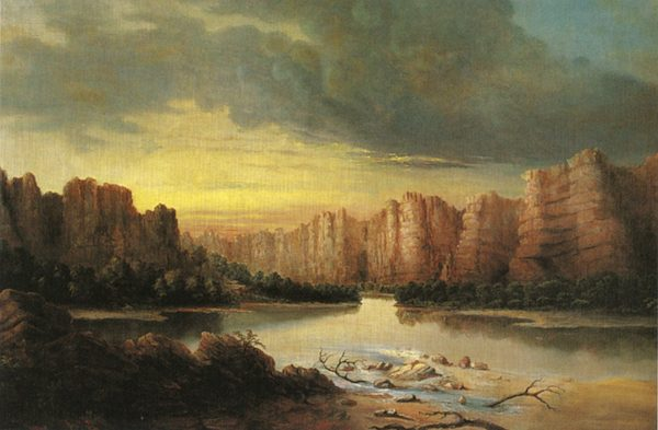 Rio Grande, painting by Solomon Nunes Carvalho. Courtesy of Oakland Museum of California.