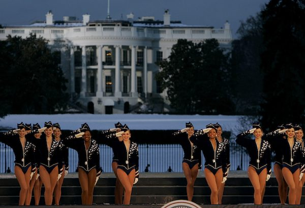 The Rockettes perform during the Celebration of Freedom Concert on the Ellipse on Jan. 19, 2005. The Rockettes have been assigned to dance at President-elect Donald Trump's inauguration this month.  Photo by Chris Gardner/Associated Press.