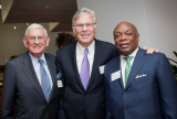 Developer Nelson Rising (center) with philanthropist Eli Broad (left) and former California Assembly Speaker and San Francisco Mayor Willie Brown (right). Photo courtesy of Nelson Rising.