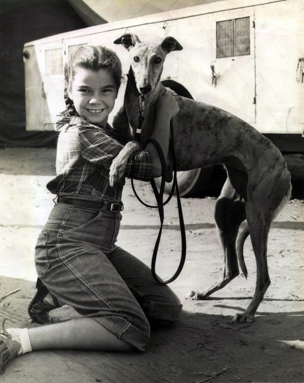The author and her favorite dog, Skinny. Photo courtesy of Claudette Sutherland.