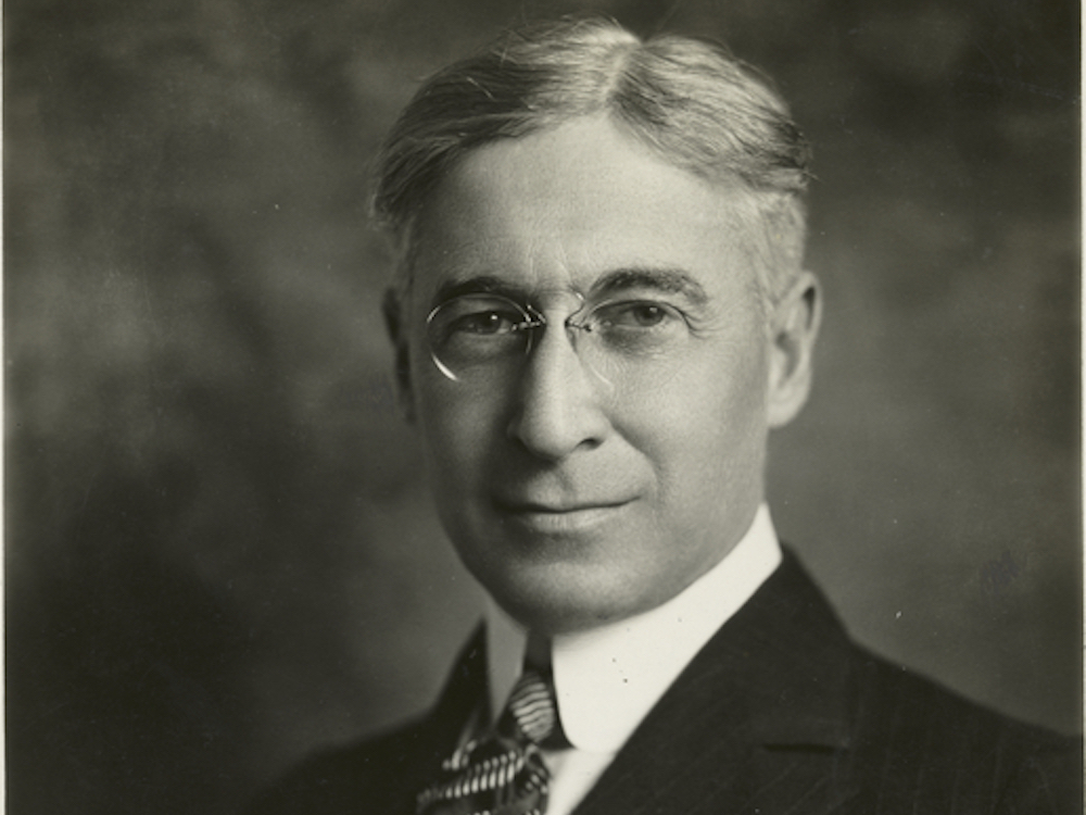 "Bernard Baruch, a financier and speculator known in his day as ""the lone wolf of Wall Street,"" was one of the first so-called ""dollar-a-year men"" appointed by President Woodrow Wilson. Courtesy of the Miriam and Ira D. Wallach Division of Art, Prints and Photographs: Photography Collection, The New York Public Library."