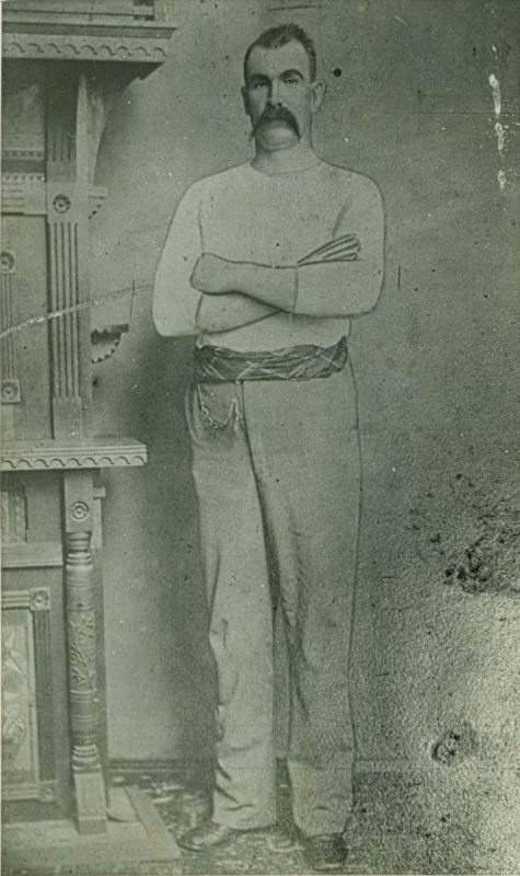 "Nathaniel ""Nat"" N. Kinney, the towering chieftain of the Taney County Bald Knobbers, pictured in 1883, the year he moved to Forsyth, Missouri. Courtesy of the State Historical Society of Missouri."