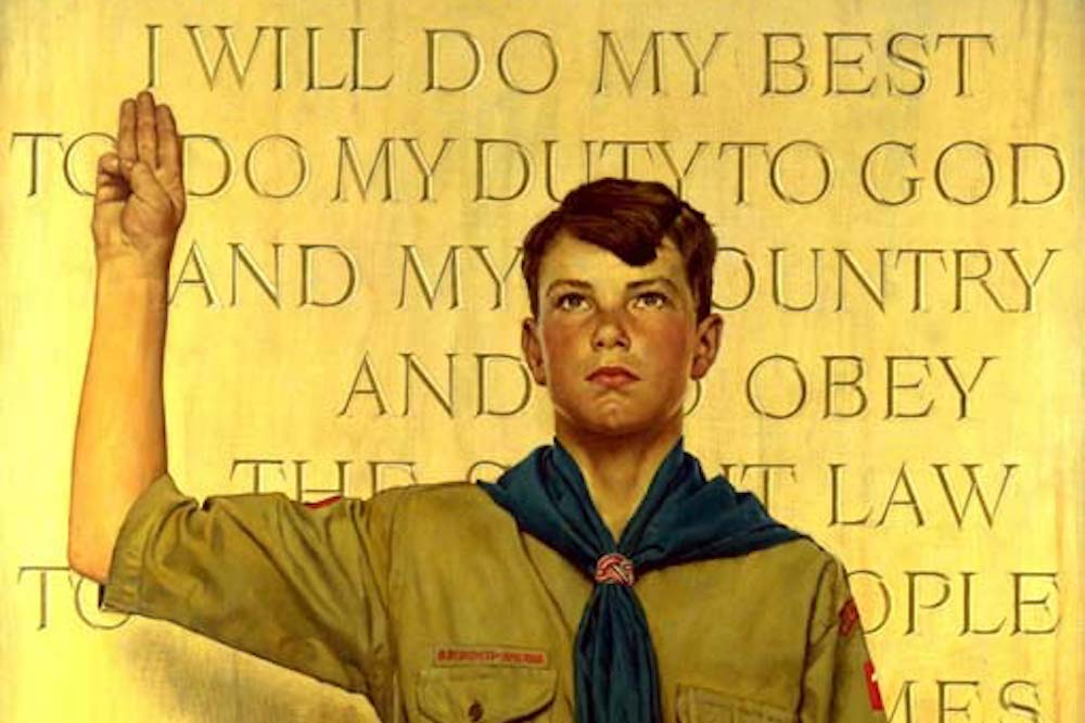 I Will Do My Best, Norman Rockwell, 1945. Courtesy of the National Scouting Museum, Boy Scouts of America. Copyright Brown & Bigelow.