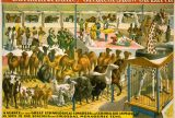 A promotional poster for the Barnum and Bailey circus, dating to around 1895, offered audiences a sneak peek of the menagerie tent.