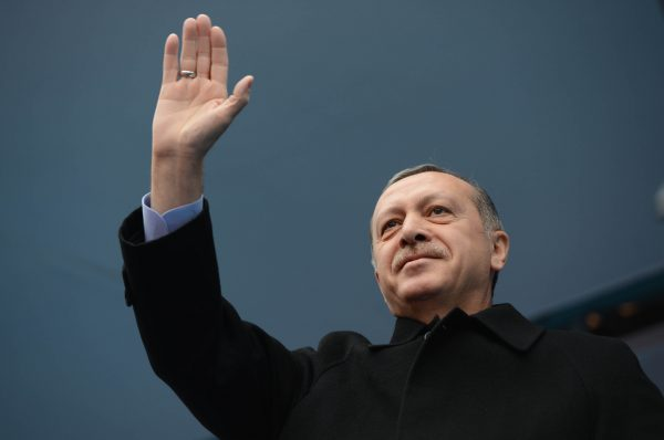 President of Turkey, Recep Tayyip Erdoğan waves to the crowd on Mar. 1, 2014. Despite being a democracy, Turkey has been internationally criticized for human rights violations and suppression of free speech under Erdoğan's rule.