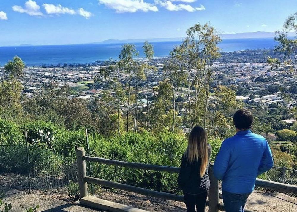View of Santa Barbara, California, from Franceschi Park. Photo courtesy of Visit Santa Barbara.