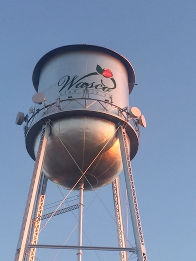 The Wasco water tower. Courtesy of the city of Wasco.