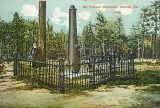 The McPherson Monument in East Atlanta, as rendered on an German-made 1880s postcard. Image courtesy of Henry Bryant and Katina Van Cronkhite.