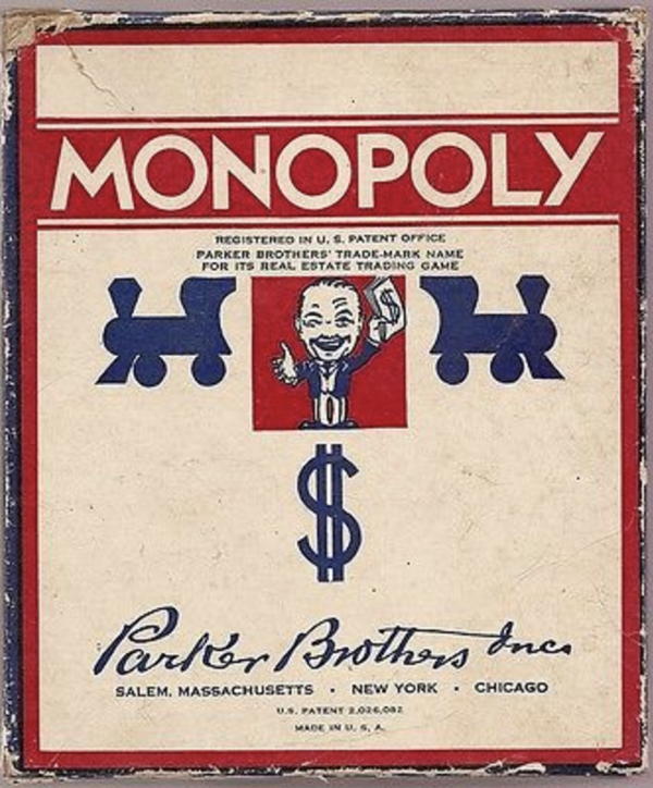 Cover of an earlier version of Monopoly.