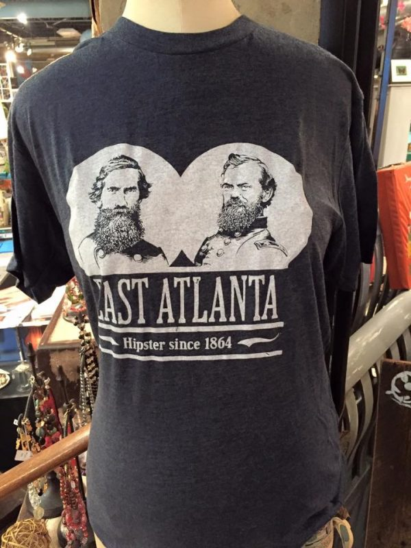 A t-shirt featuring Generals McPherson and Walker at Kaboodle in East Atlanta. Photo by Tony Crump/East Atlanta Community Association.