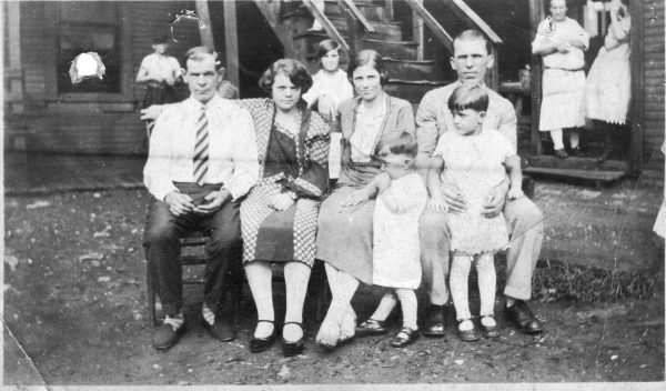 The author's grandfather, Vid Salopek (far left) and grandmother, Amanda (Vucic) Salopek, both immigrants from Croatia (Yugoslavia). Vid worked for the Carnegie Steel Company. Photo courtesy of Ken Kobus.