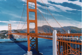 Artist's rendering of BART on the Golden Gate Bridge. Image courtesy of Bay Area Rapid Transit.