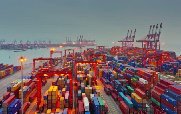 Cargo containers at the docks of Shenzhen, China. Photo courtesy of Shutterstock.
