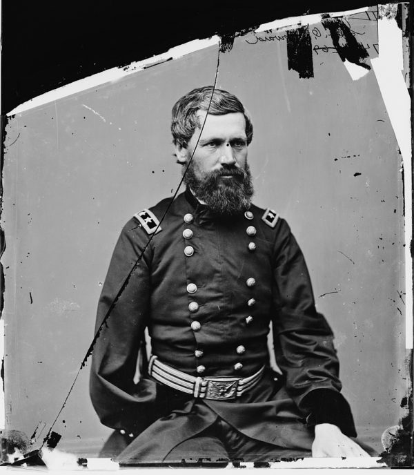 Photo portrait of Gen. Oliver Otis Howard, between 1860 and 1865. Courtesy of Library of Congress Prints and Photographs Division.