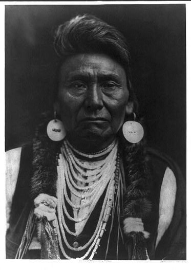 Undated photo portrait of Chief Joseph-Nez Perce, by Edward S. Curtis. Library of Congress Prints and Photographs Division.