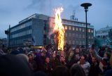 Protesters burn an effigy of the Icelandic Prime Minister Geir Haarde during a demonstration over the handling of the financial crisis, in Reykjavik, Iceland's capital, on Jan. 21, 2009. Photo by Thorvaldur Kristmundsson/Associated Press.