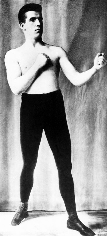 "Boxer James Corbett, photographed in the 1890s, championed ""scientific boxing,"" a departure from the bare-knuckled brawls of the past, and attended the opera. His mother, who he revered, had hoped he would become a priest. Photo courtesy of Associated Press."