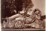 Photo by Eugène Atget (French, Libourne 1857–1927 Paris) of a statue of the sleeping Ariadne, at Versailles. Image courtesy of Gilman Collection, Purchase, Ann Tenenbaum and Thomas H. Lee Gift, 2005. The Metropolitan Museum of Art.