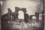 View of the Monumental Arch destroyed by the Islamic State in 2015. Albumen print by Louis Vignes, 1864/Courtesy of the Getty Research Institute.