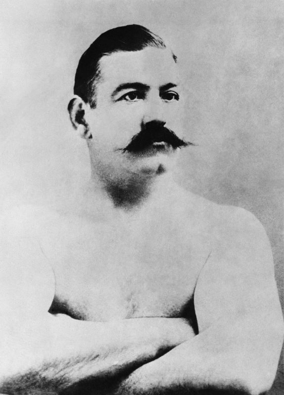 John L. Sullivan, heavyweight boxer and unrepentant tough guy, in an undated photo. Photo courtesy of Associated Press.