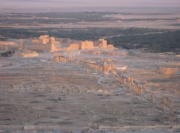 View of Palmyra from Qalaat Shirkuh before the destruction of its major monuments by ISIS. Photo by Judith McKenzie/Manar al-Athar, 2010.