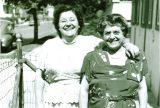 The author's grandmothers, circa 1940. Left, Angelina Ferrara Palleschi (maternal grandmother), and Teresa Munafo Salamone (paternal grandmother). Photo courtesy of Kathleen Garrett.
