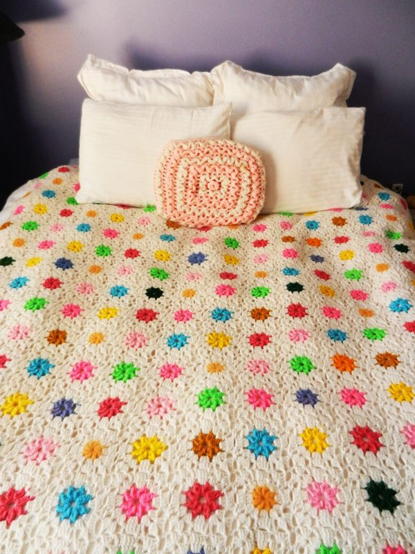 Bedspread afghan, made by the author's grandmother. Photo courtesy of Kathleen Garrett.