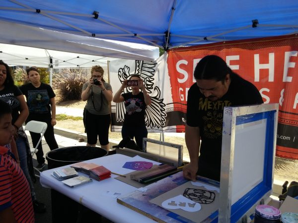 Eastside Community Festival with Self Help Graphics. Photo courtesy of the Riverside Art Museum.