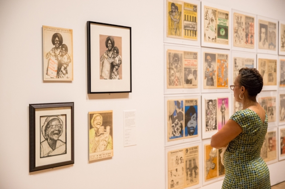 "how a black panthers exhibition connected activism of the past to  a or at ""all power to the people black panthers at 50 "" an exhibition at the oakland museum of california photo courtesy of odell hussey"