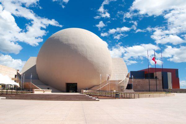 The IMAX dome at El Centro Cultural Tijuana. Courtesy of El Centro Cultural Tijuana.