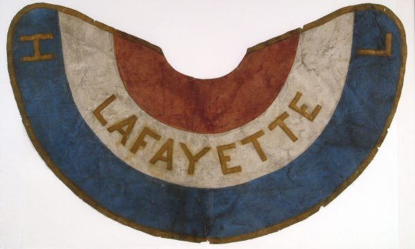 Lafayette Hose Company Cape, mid-19th century. Image courtesy of Division of Home and Community Life, National Museum of American History.