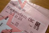 A ticket for a National Theatre live production of Frankenstein with Benedict Cumberbatch and Jonny Lee Miller. Photo courtesy of Pete/Flickr.