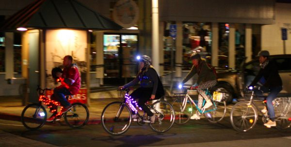 Arts participation today isn't only about sitting in a concert hall or pondering a painting in a museum. Bikers light up a night ride in Santa Cruz in 2015. Photo courtesy of Richard Masoner/Flickr.