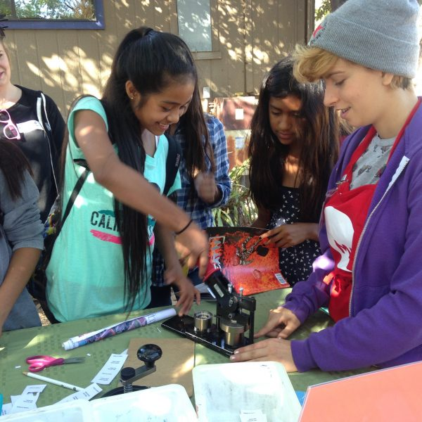 Teens participate in a program at the Santa Cruz Museum of Art & History. Photo courtesy of Santa Cruz Museum of Art & History.
