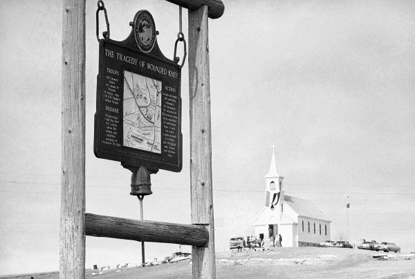 A view of Wounded Knee, South Dakota, date unknown. Photo courtesy of Associated Press.