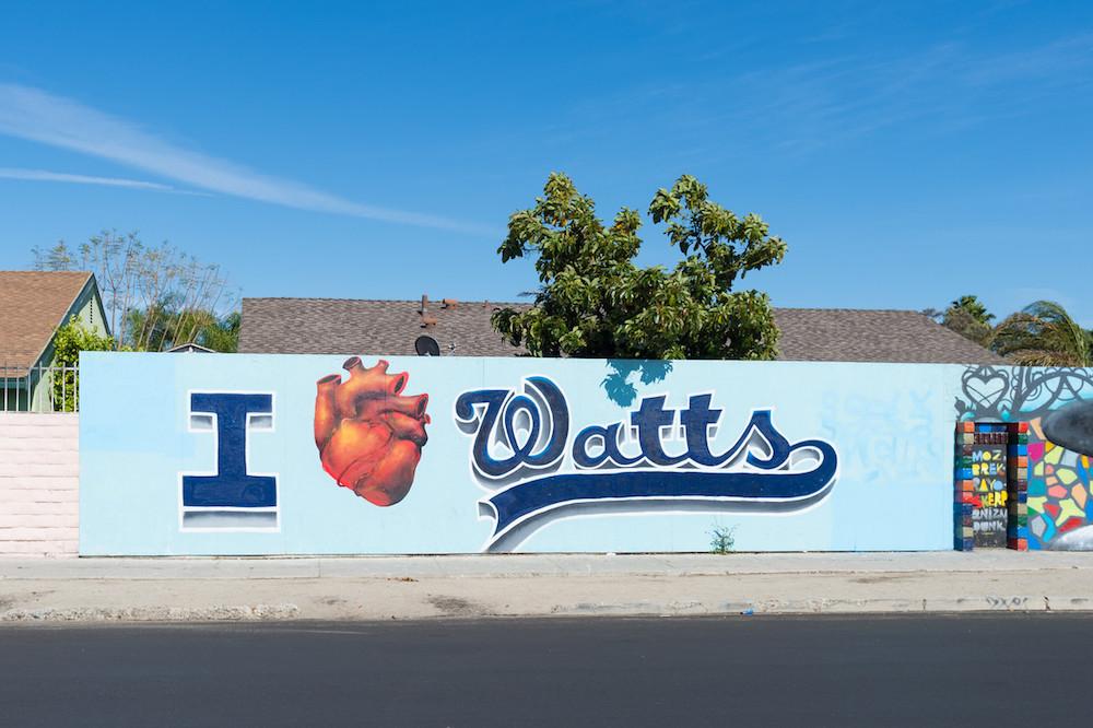 Street art near 103rd Street in Watts.