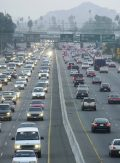 ** ADVANCE FOR WEEKEND EDITIONS NOV. 2-3 ** Evening rush-hour traffic crawls along Highway 91,  a major commuter route between Riverside and Orange counties, in Riverside, Calif., Wednesday, Oct. 30, 2002. With an increase of another 6 million people expected in California in the next decade, and with cities grappling with massive traffic snarls, growing smog problems, water shortages and a housing crisis, there are more  than 25 local ballot measures dealing with growth issues up and down the state onTuesday's ballots. Measure A in Riverside County calls for highway improvements including improvements to Highway 91. (AP Photo/Ric Francis)