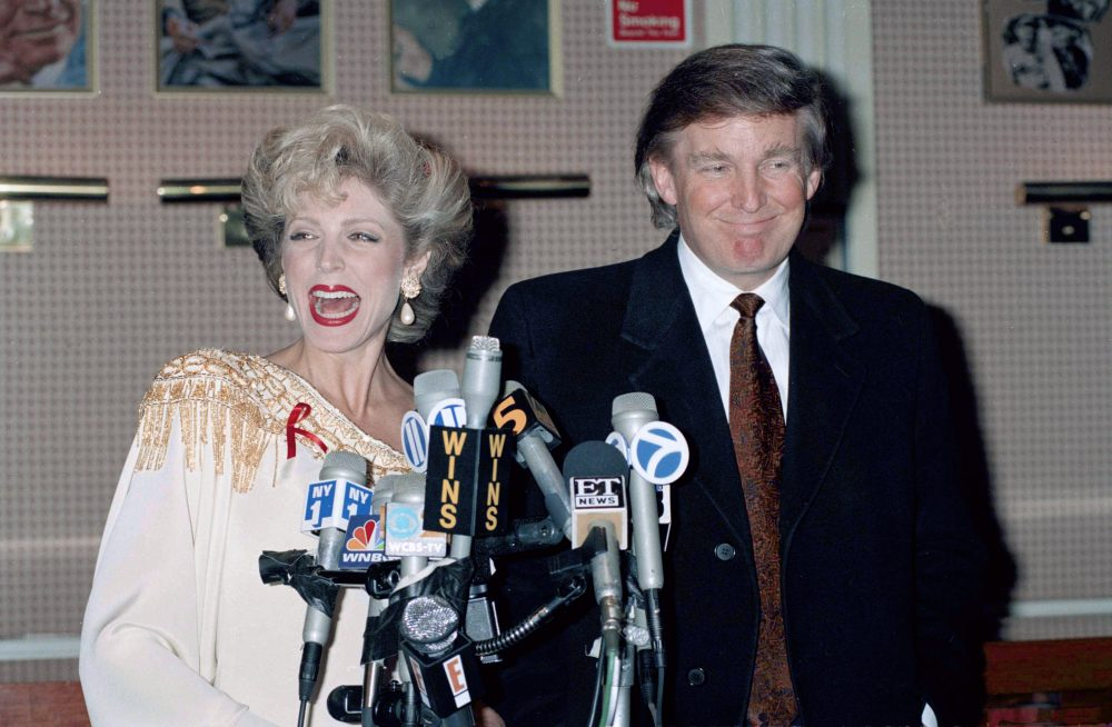 Persuasive Essay Examples High School Trump With Thengirlfriend Marla Maples At New Yorks Palace Theater  Announcing They Are Expecting A Child April   Photo Courtesy Of  Chrystyna  Essay On My Mother In English also Custom Essay Paper We Can Thank New York City For Trump  Essay  Zcalo Public Square Buy Essay Papers Online