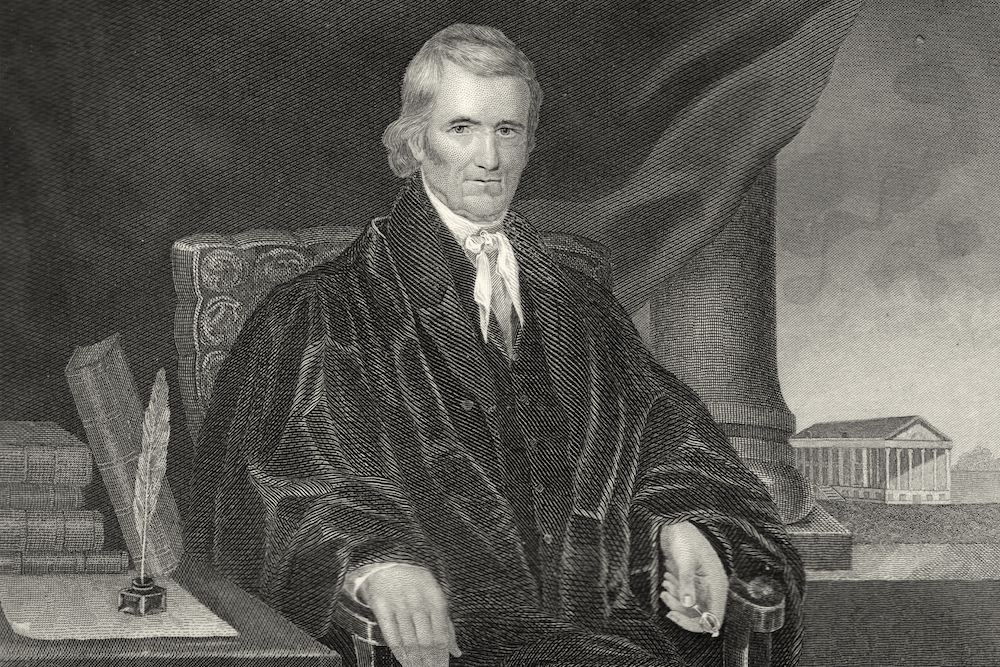 john marshall supreme court essay View notes - supreme court and the constitution questions from ap his ii ap us hist at northern valley high jonathan laxmi chapter 11- essay questions i john marshall and the supreme court c.