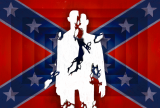 fracturing American confederate flag