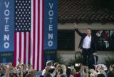 Gavin Newsom at a rally.