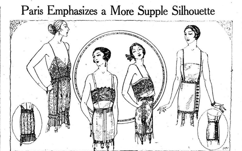 An image from Women's Wear Daily of a more subtle silhouette