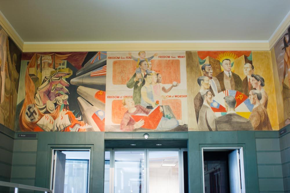 mural San Francisco post office